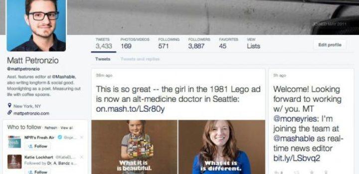 Twitter teste un nouveau design de profil à la Facebook