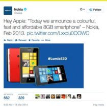 Nokia tacle Apple pour son nouvel iPhone 5C de 8 Go