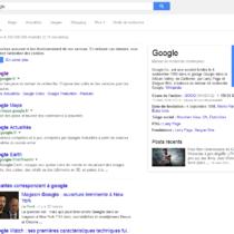 Google a bien modernisé l'affichage de son moteur de recherche