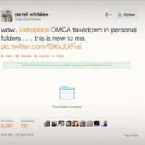 Dropbox détecte et bloque les fichiers sous copyright