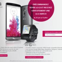 Précommandez le G3, LG vous offre une G Watch