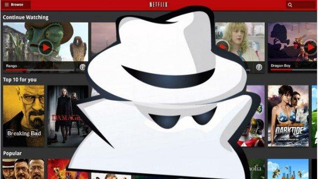 Navigation privée Netflix