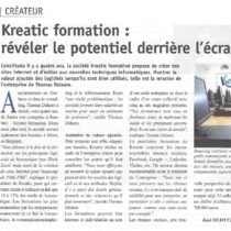 On parle de Kreatic formation dans la Gazette du Nord-Pas de Calais !