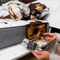 Un Galaxy S4 prend feu pendant le sommeil d'une jeune fille