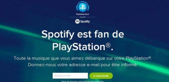 Sony et Spotify main dans la main pour PlayStation Music