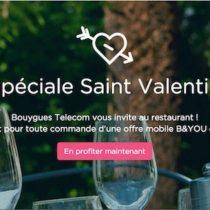 Pour la Saint-Valentin, Bouygues Telecom offre un dîner