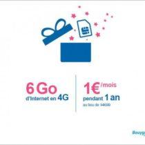 Bouygues Telecom : un forfait Internet 6 Go pour 1€/mois pendant 1 an !