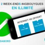 2 weekend en 3G / 4G illimitées offerts par Bouygues