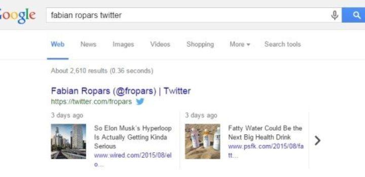 Les Tweets indexés sur Google, sur mobile et PC