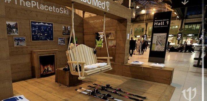 Une station de ski virtuelle Gare de Lyon grâce à la réalité augmentée !